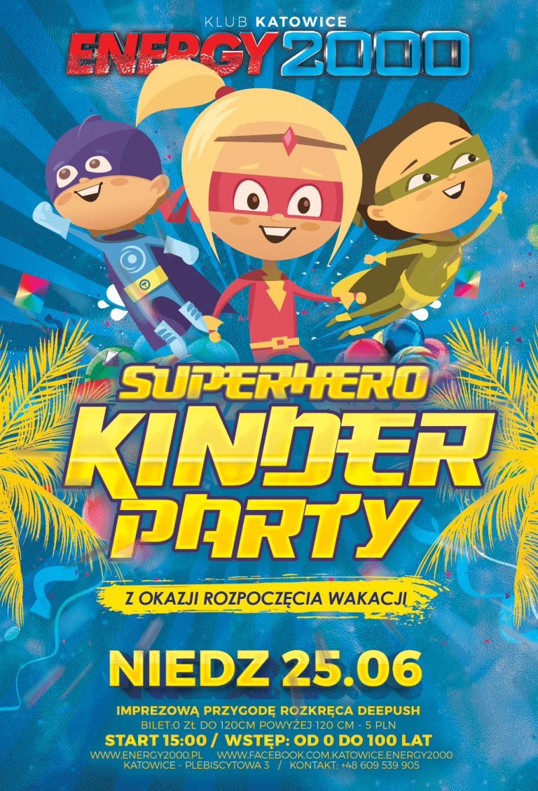 KINDER PARTY Superhero
