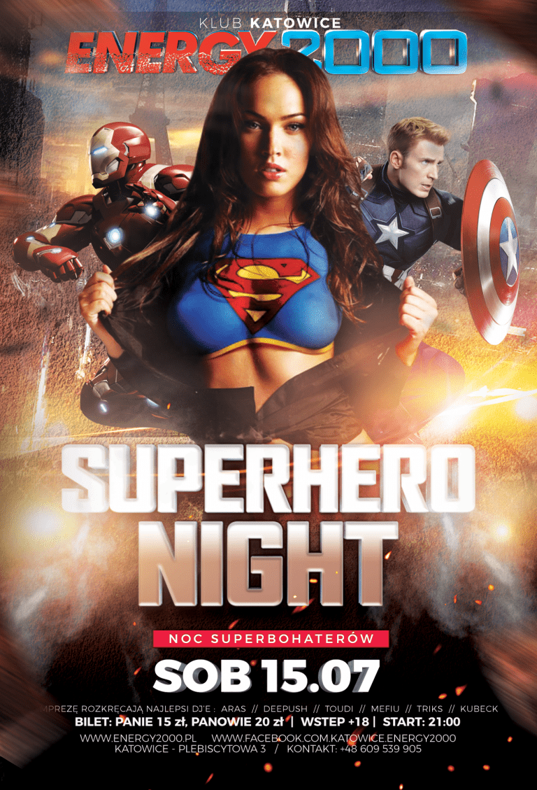 SuperHero Night – noc superbohaterów!