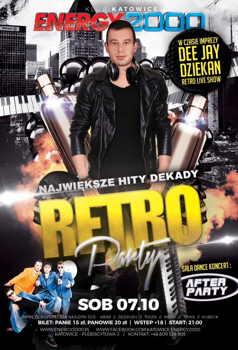 Retro Party – DJ Dziekan + koncert AfterParty