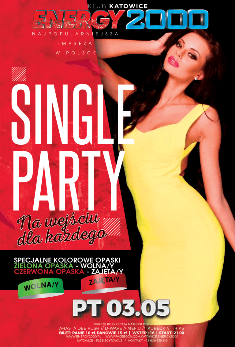 SINGLE PARTY ★ Specjalne opaski