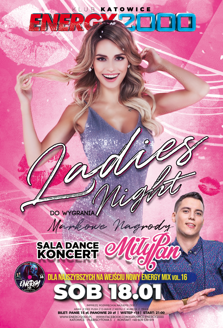 LADIES NIGHT ★ MIŁY PAN – sala DANCE