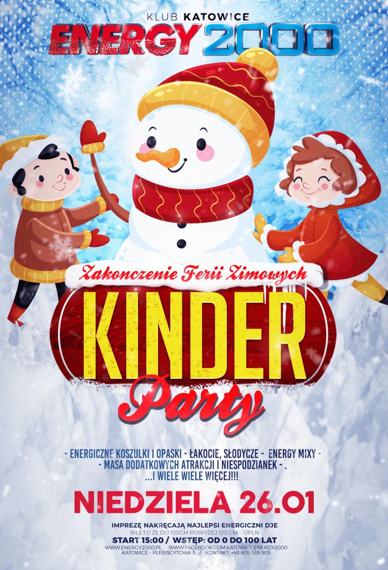 Winter Kinder PARTY ★ Zakończenie Ferii ★ Niedziela 26.01