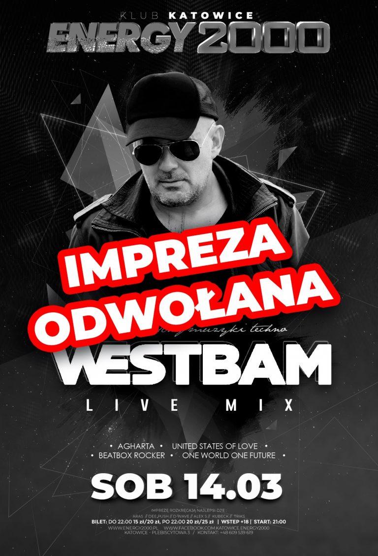 Westbam ★ Impreza odwołana!