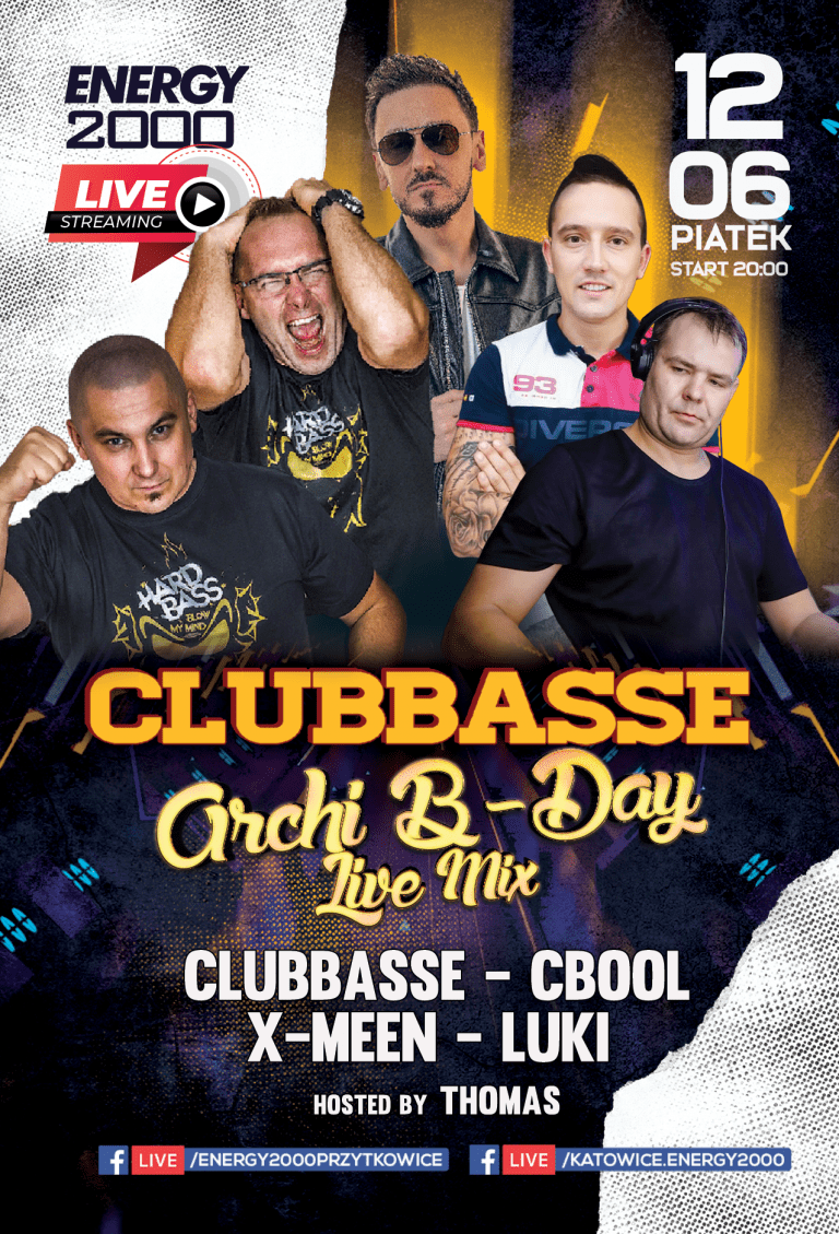 Clubbasse Live Stream ★ Archi B-Day