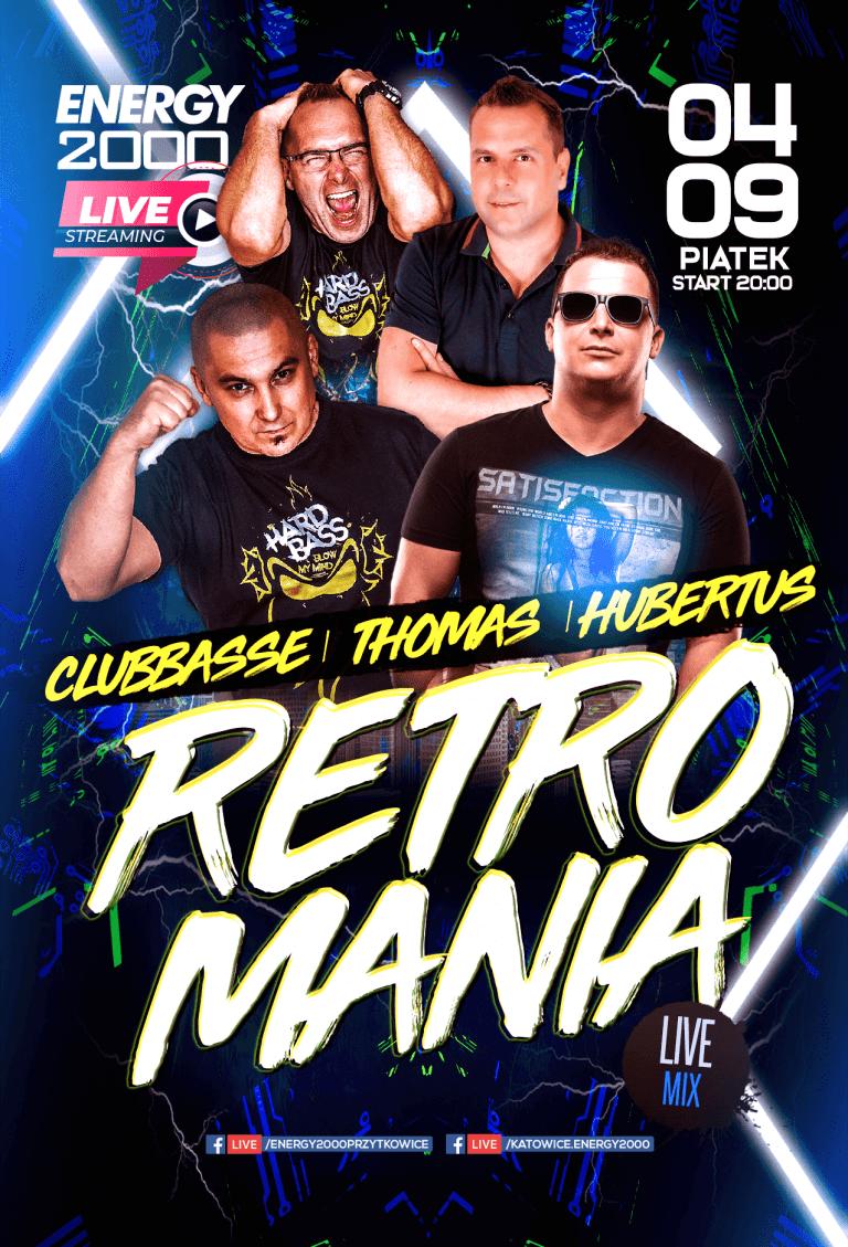 Retromania Live Stream ★ Clubbasse/ Thomas/ Hubertus