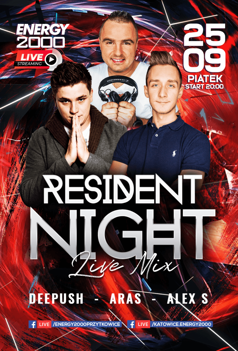 Resident Night ★ Aras/ DeePush/ Alex S