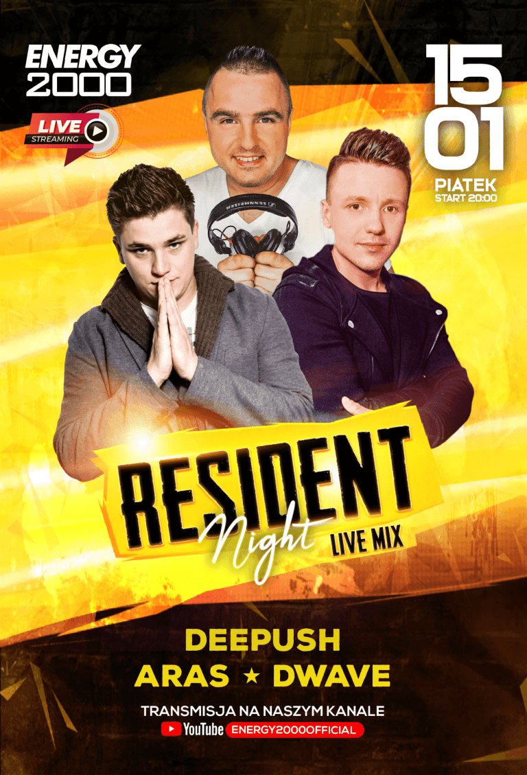 RESIDENT NIGHT ★ DEE PUSH/ ARAS/ DWAVE