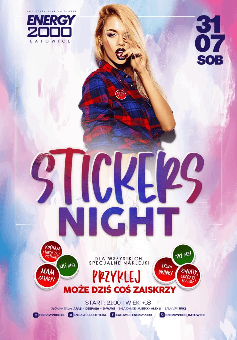 STICKERS NIGHT ★ Przyklej to!
